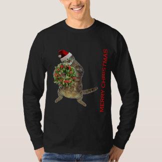 Tabby cat  plays Santa Claus T-Shirt