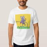 Tabby Cat Ride Bicycle Tshirt