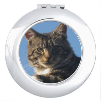Tabby Cat - Round Compact Mirror