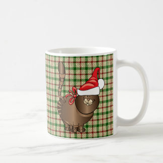 tabby cat santa coffee mug
