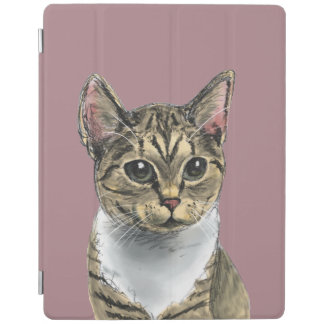 Tabby Cat With Big Eyes iPad Cover