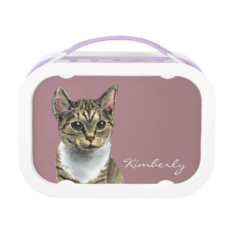 Tabby Cat With Big Eyes Lunch Box