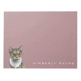 Tabby Cat With Big Eyes Notepad