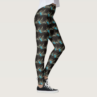 Tabby Cat with Feather by Shirley Taylor Leggings