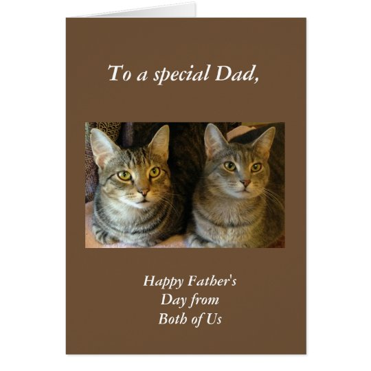 Tabby Cats Father's Day Greeting Card