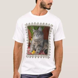 Tabby & Daffodils, apparel T-Shirt