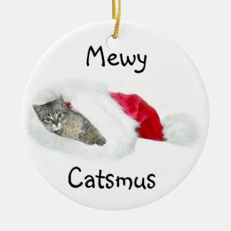Tabby kitten Christmas Christmas Ornament