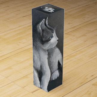 Tabby Kitten Wine Box