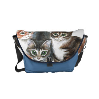 tabby kittens Small Rickshaw Messenger Bag