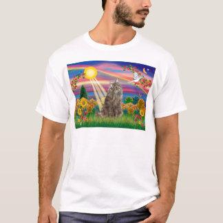Tabby Norwegian Forest Cat - Autumn Sun T-Shirt