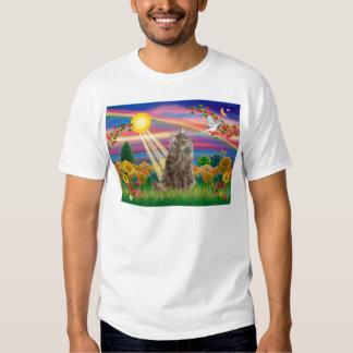 Tabby Norwegian Forest Cat - Autumn Sun Tshirts