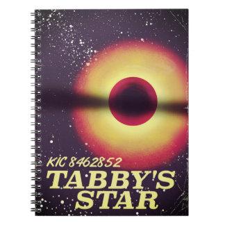 Tabbys star space poster notebooks