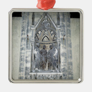 Tabernacle with Four Crowned Saints Christmas Ornament