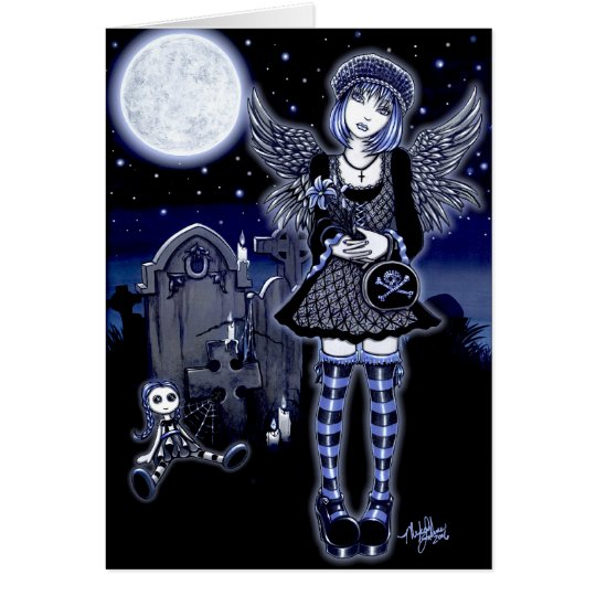 Tabitha Blue Moon Angel Card