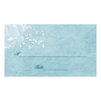 TABLE ASSIGNMENT CARDS - BLUE ELEGANCE COLLECTION PACK OF STANDARD BUSINESS CARDS