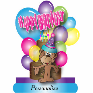 Table Cake Topper- Happy Birthday Cutout Photo Cutouts