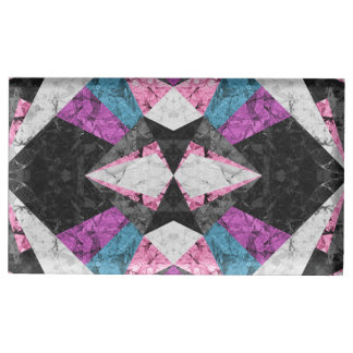 Table Card Holder Marble Geometric Background G438