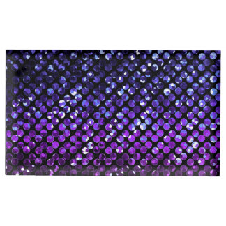 Table Card Holder Purple Crystal Bling Strass