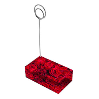 Table Card Holder-Red Roses Table Number Holder