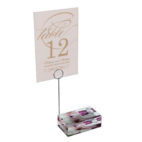 Table Card Holder - Saucer Magnolia Bloom