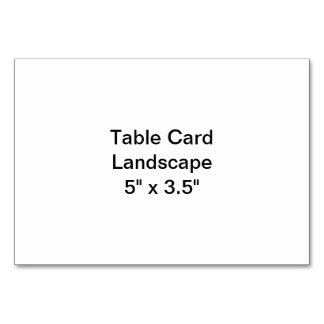 Table Card Landscape