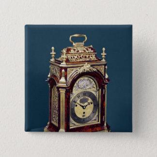 Table clock, c.1750 15 cm square badge