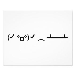 Table Flip Flipping Ascii Emoticon 11.5 Cm X 14 Cm Flyer
