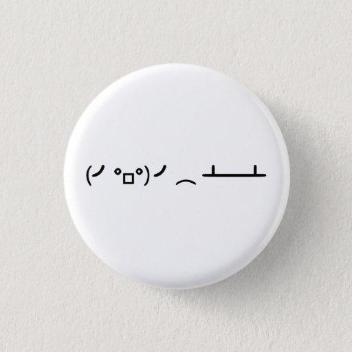 Table Flip Flipping Ascii Emoticon 3 Cm Round Badge