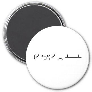 Table Flip Flipping Ascii Emoticon 7.5 Cm Round Magnet
