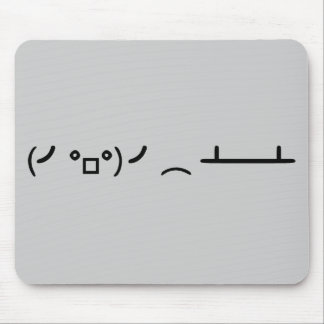 Table Flip Flipping Ascii Emoticon Mouse Pad