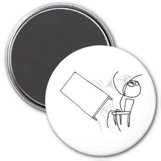 Table Flip Flipping Rage Face Meme 7.5 Cm Round Magnet