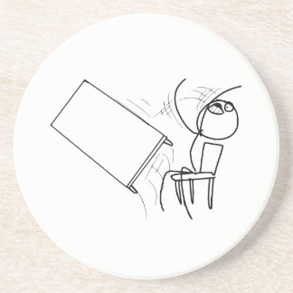 Table Flip Flipping Rage Face Meme Beverage Coasters