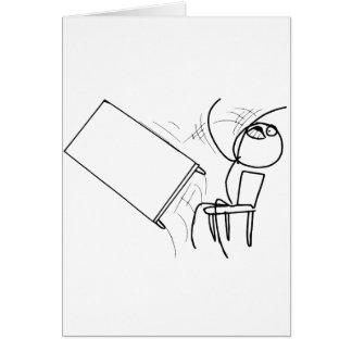 Table Flip Flipping Rage Face Meme Greeting Card