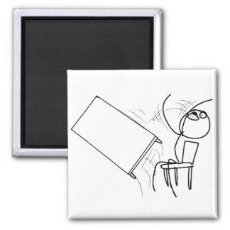 Table Flip Flipping Rage Face Meme Square Magnet