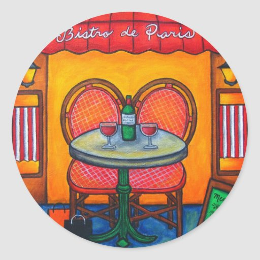 Table for Two in Paris Stickers