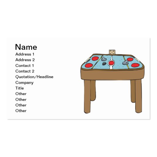 Table Hockey Business Cards