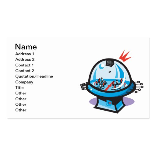Table Hockey Business Card Templates