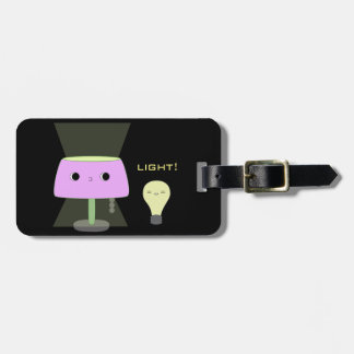 Table lamp and lightbulb luggage tag