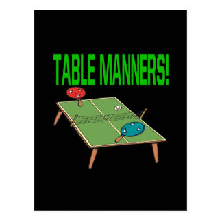 Table Manners Postcard