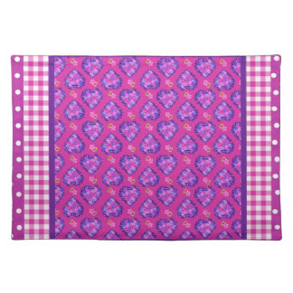 Table Mat, Hearts, Flowers, Checks, Polka Dots Placemat