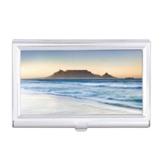 Table Mountain Across Table Bay Business Card Holder