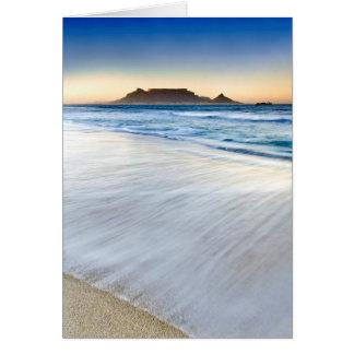 Table Mountain Across Table Bay Card