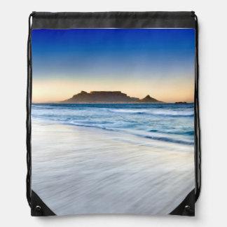 Table Mountain Across Table Bay Drawstring Bag