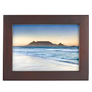 Table Mountain Across Table Bay Keepsake Box