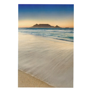 Table Mountain Across Table Bay Wood Wall Art