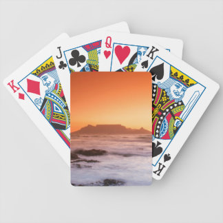 Table Mountain At Sunset, Bloubergstrand Bicycle Playing Cards