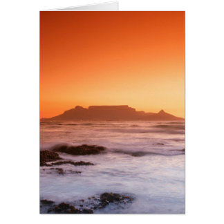 Table Mountain At Sunset, Bloubergstrand Card