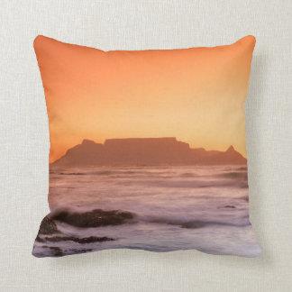 Table Mountain At Sunset, Bloubergstrand Cushion