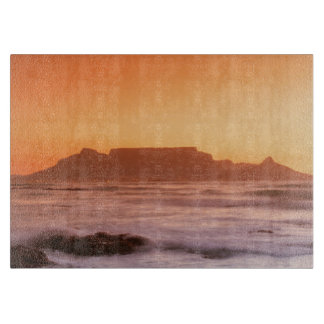 Table Mountain At Sunset, Bloubergstrand Cutting Board