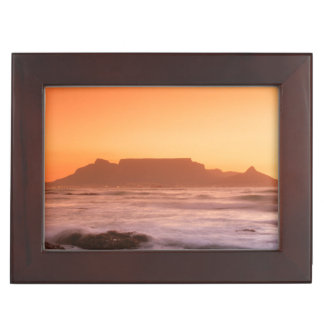 Table Mountain At Sunset, Bloubergstrand Keepsake Box